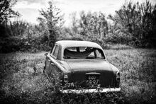 Peugeot 203 black and white picture