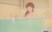 Julia Enjoys a Bath