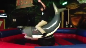 Jack Rides a Mechanical Shark