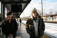 Jack & Stephen at the Train Station in New Jersey