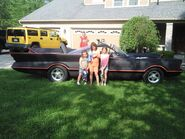 Three Girls With Batmobile