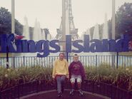 Paige & Tre at the Kings Island (Ohio)