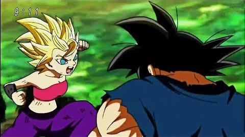 SSJ2 Caulifla vs Goku Base - Dragon Ball Super Episode 113 HD