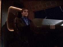 Jake Kurland in stolen shuttle