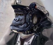 Male gorilla portrait by drbrbr-d6h3wqv
