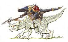 Lizardman Cavalry color test
