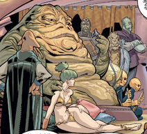 Nerina as a slave to the Hutt