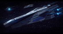 Mass effect veracruz class cruiser commission by adamkop-d7c4326