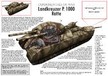 P 1000 Ratte Tank Cutaway by VonBrrr