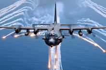 800px-AC-130H Spectre jettisons flares