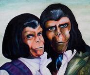 Planet of the apes portrait by hoser81-d34g7eg