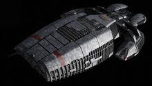 Galactica's top side