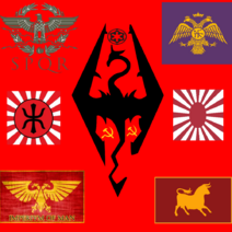 Red imperial coaltion flag