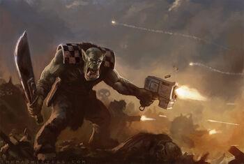 Warhammer 40k ork boyz by thomaswievegg-d6qp7ry