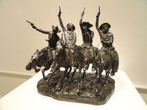Off the Range (Coming Through the Rye) by Frederic Remington, modeled 1902, cast c. 1903 - Corcoran Gallery of Art - DSC01250