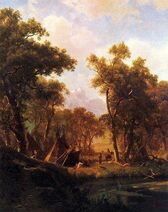 Indian Encampment, Shoshone Village Albert Bierstadt