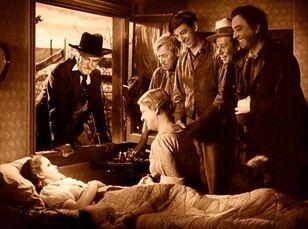 Dorothy wakes up in Kansas.