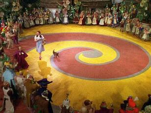 Dorothy Follows the Yellow Brick Road