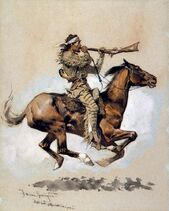 Buffalo Hunter Spitting a Bullet into a Gun