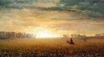 Sunset of the Prairies Albert Bierstadt