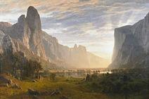Bierstadt Looking Down Yosemite Valley