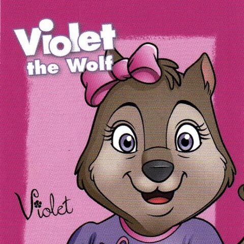 Violet trading card