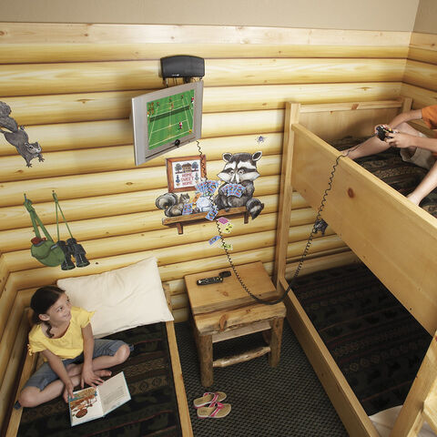 2nd version of the KidCabin Suite with a kid playing Nintendo games on <a href=