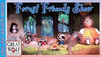 The Forest Friends Show at The Great Wolf Lodge in Southern California - Liam and Taylor's Corner