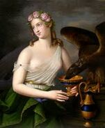 Goddess of youth and cupbearer
