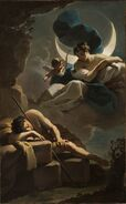 Selene and Endymion by Ubaldo Gandolfi