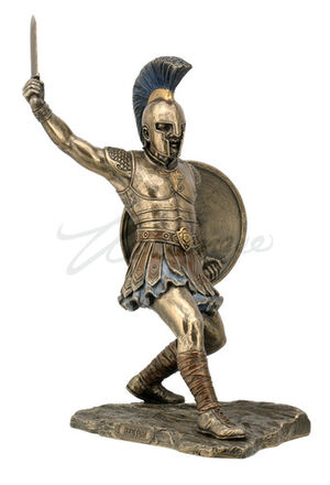 Hector-Sculpture-with-Sword-and-Shield