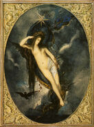 Nyx, Night Goddess by Gustave Moreau (1880)