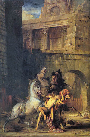 Diomedes Devoured by his Horses 1865