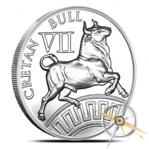 Cretan bull silver round