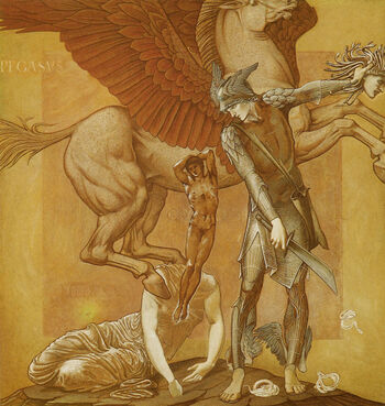 EdwardBurneJones-Birth-of-Pegasus-and-Chrysaor-from-the-Blood-of-Medusa-1876-85