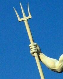 Poseidon sculpture Copenhagen 2005 hand