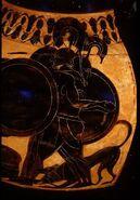 Black Figure Amphora-Geryon