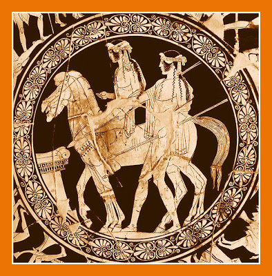 Vase Paint-Castor and Pollux