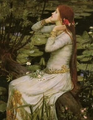 Ophelia by the pond jw waterhouse victorian art postcard-r8c215412c8bf4f8f9111beb2007b6326 vgbaq 8byvr 512