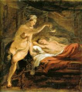 Psyche Holds Lamp