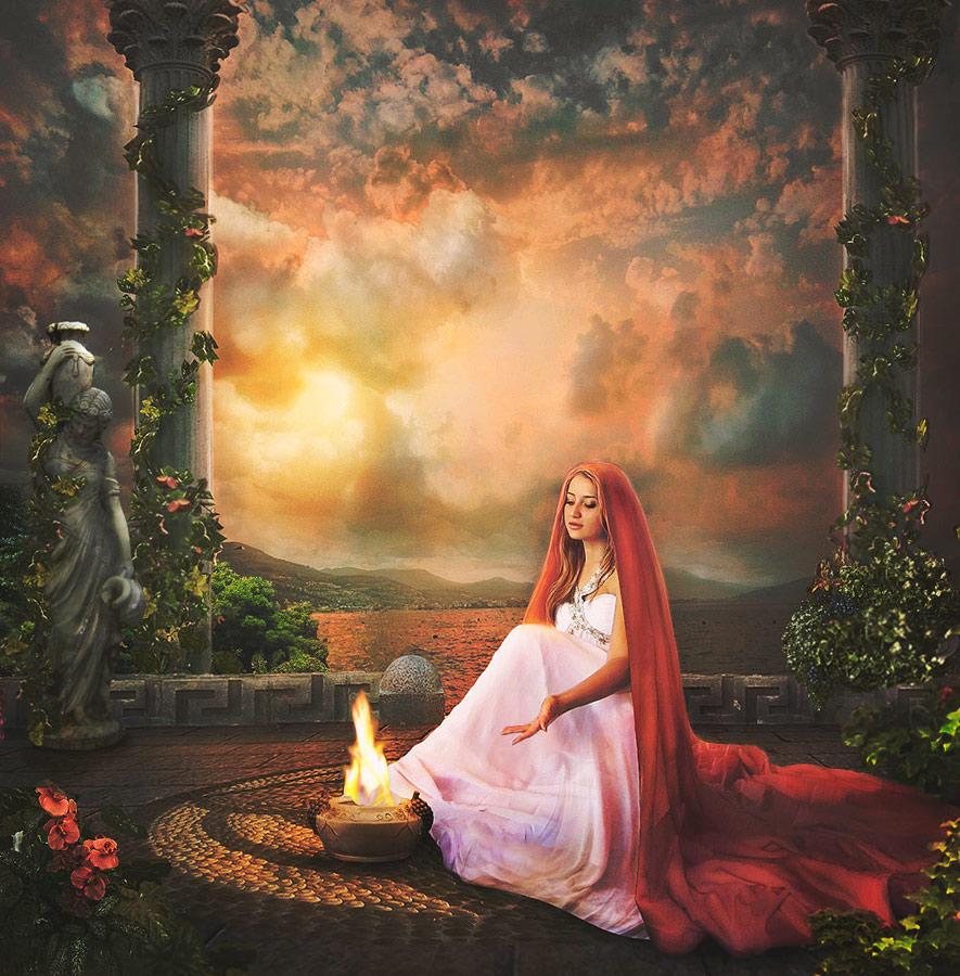 Resultado de imagen para hestia goddess painting