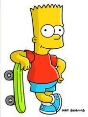 Bart with his skateboard