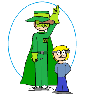 Green Wings Man and Leopold