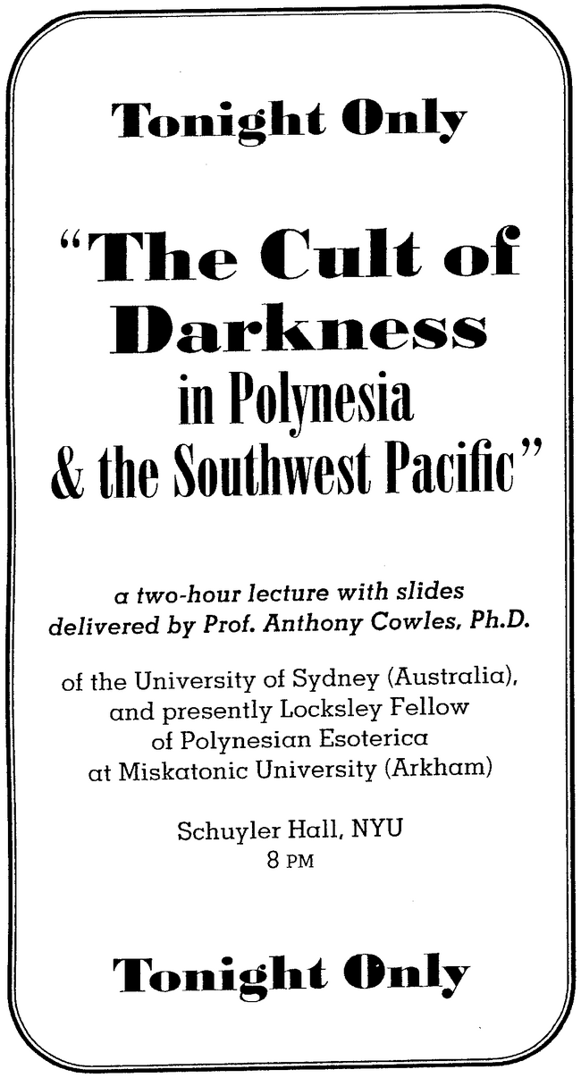 Lecture handbill