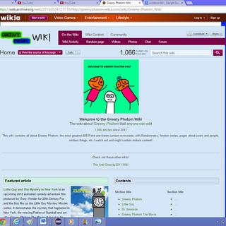 The Greeny Phatom Wiki (December 29, 2012 - May 28, 2013, August 8, 2013 - September 28, 2013).