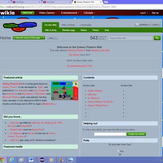 The Greeny Phatom Wiki (December 2, 2012 - December 29, 2012).