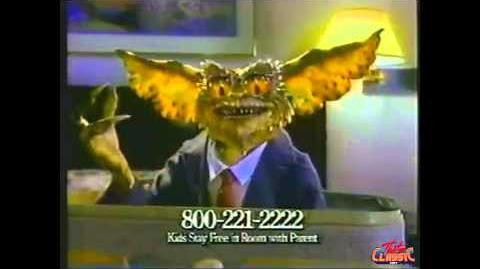 Gremlins 2 Clarion Hotel TV Commercial 1990
