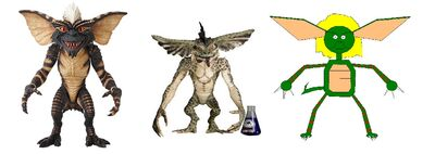 Gremlins from three movies