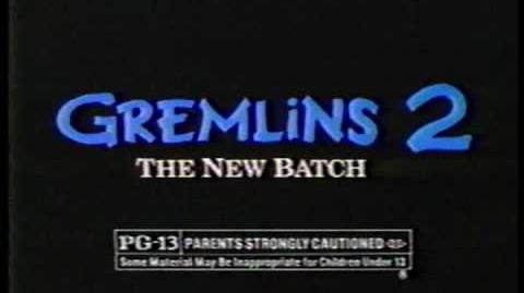 Gremlins 2 - The New Batch tv ad