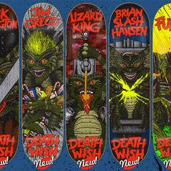 several skatebord decals
